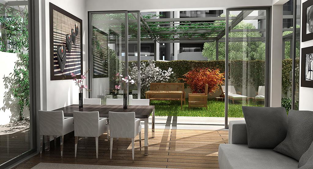 Portfolio immagini utopix rendering milano - Giardino interno ...