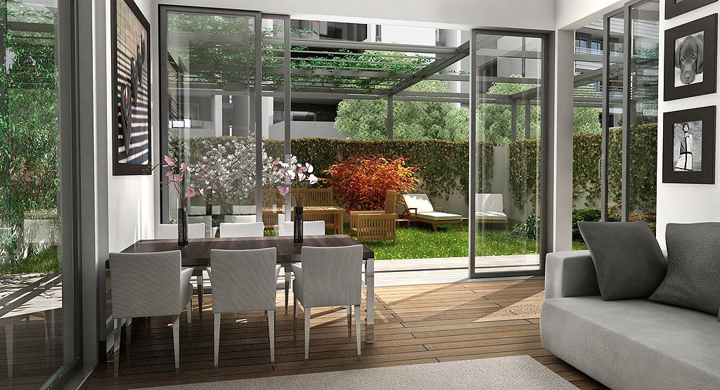 Giardini residenza acacia utopix rendering milano for Rendering giardino
